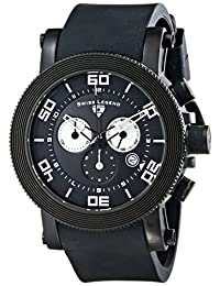 Swiss Legend Men's 30465-BB-01-WA Cyclone Analog Display Swiss Quartz Black Watch