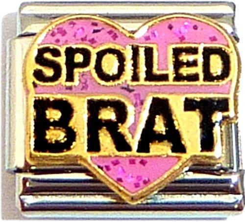Spoiled Brat On Pink Italian Charm
