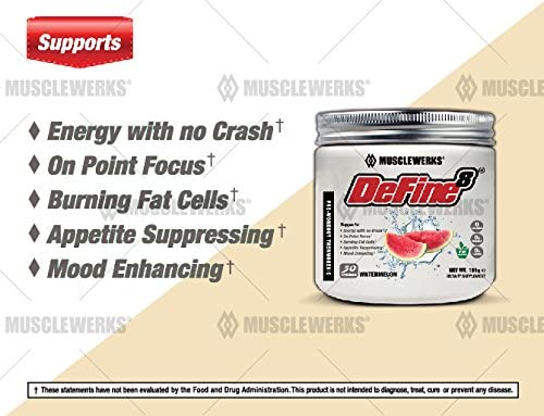 DeFine8 fat burner pre-workout supplement