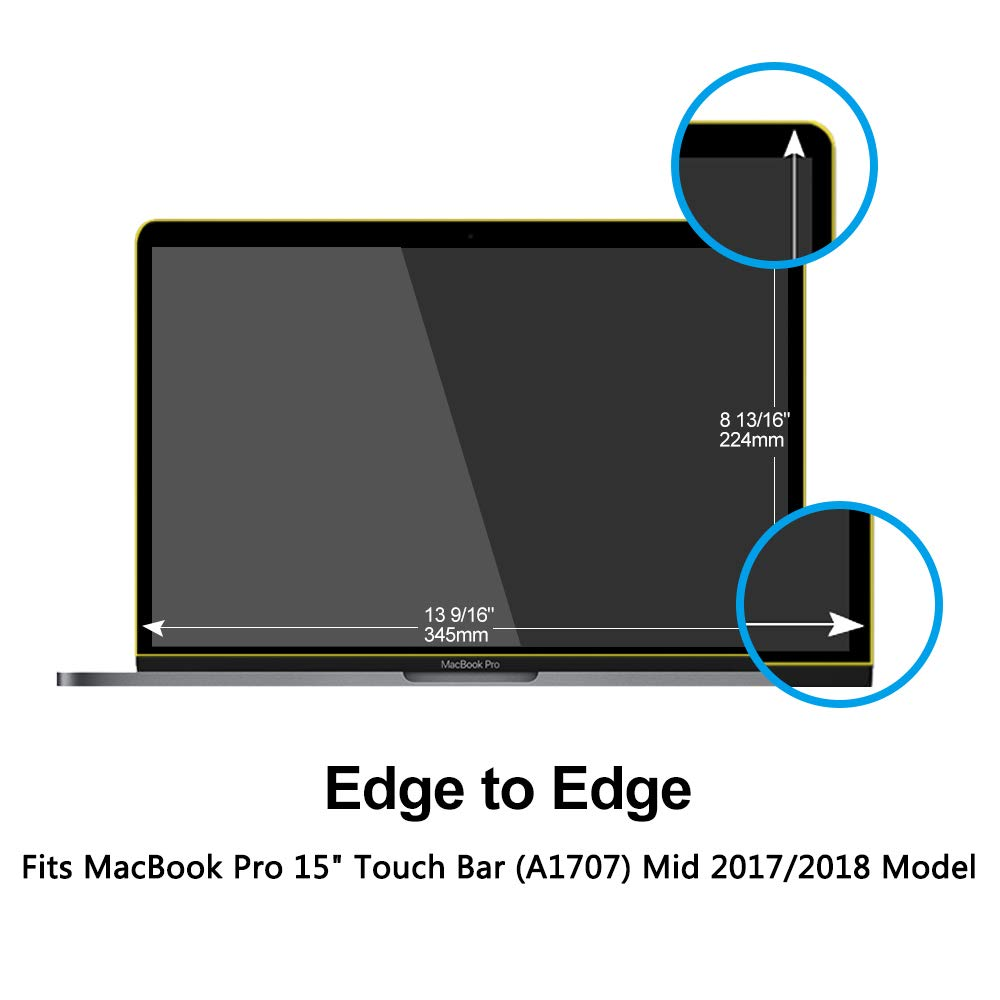 Pavoscreen Blocking Blue Light Screen Protector for MacBook Pro 15'' Touch Bar (A1707) Mid 2017/2018 Model,Protect Eyes Bubble Free Full Coverage MacBook Pro 15'' Screen Filter by Pavoscreen (Image #2)