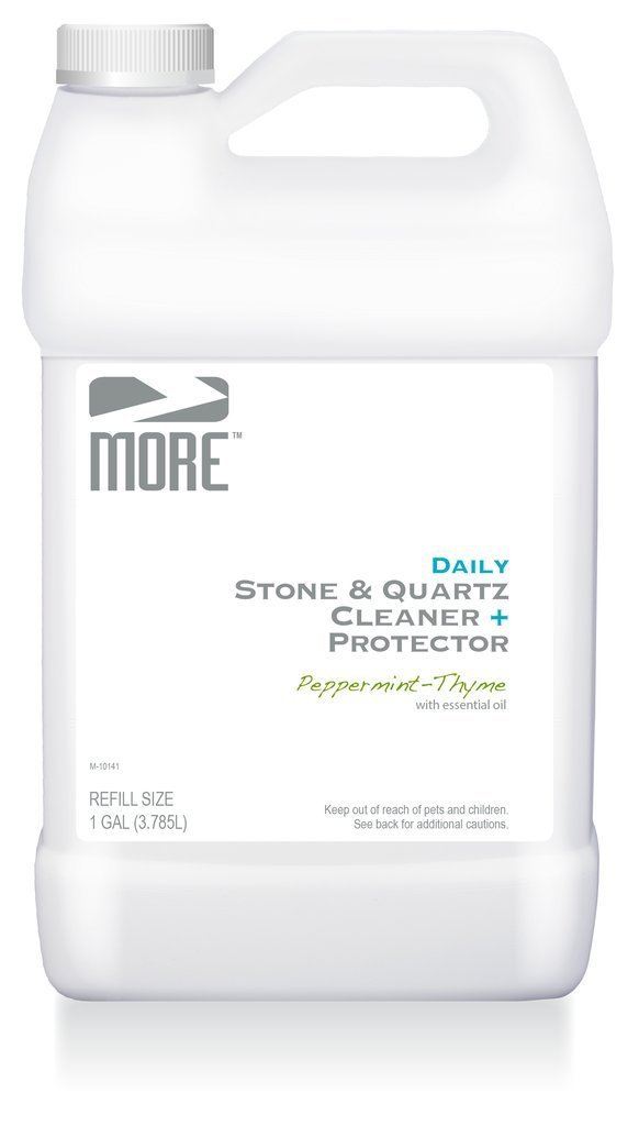 MORE Stone & Quartz Countertop Cleaner Refill | Natural Cleaner + Protector - Water Based Formula for Marble Granite Slate Tiles, Bathrooms, Kitchen Countertops [Gallon / 3.785L] by MORE Surface Care