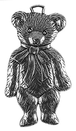 Oberon Design Teddy Bear Metal Collectable Christmas Tree Ornament, Hand Made in The USA (Bear Teddy Christmas Tree)
