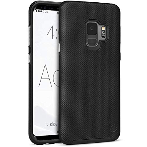 new products 223e9 edb13 Cellairis - Aero Grip Cell Phone Case for Samsung Galaxy S9 - Dual Layer  Protection, Soft Inner Silicon, Textured Hard PC Outer Shell - (Midnight ...