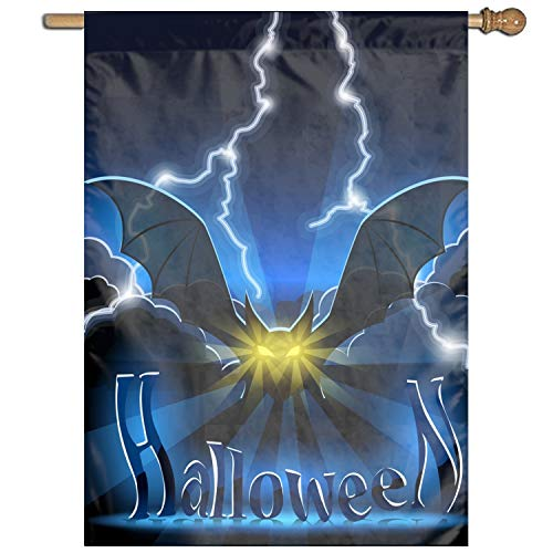 Halloween Bat Home Garden Flags Polyester Flag Indoor/Outdoor Wall Banners Decorative Flag Garden -