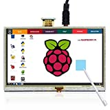The perseids 5 inch 800x480 High Resolution HDMI Monitor Resistive LCD Touch Screen TFT LCD Display for Raspberry Pi 3/2/Model B/B+(5.0 Inch Raspberry Pi LCD Display)