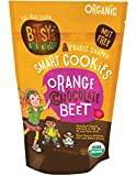 : Bitsy's Organic Smart Cookies, Chocolate Orange Beet, 5 Ounce Gusset Bag, Healthy Organic Nut-Free Snacks with Fruits and Vegetables for Kids