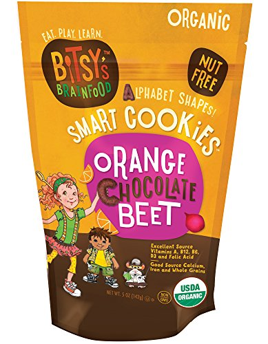 Bitsy's Brainfood Orange Chocolate Beet Cookies, 5 Ounce, 3 Count
