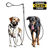 #7: WATFOON Dog Leash Coupler for Large Breed Dogs, Indestructible Dog Leash for 2 Dogs,Bundle with Metal Spring Traffic Handle (SET OF 2)