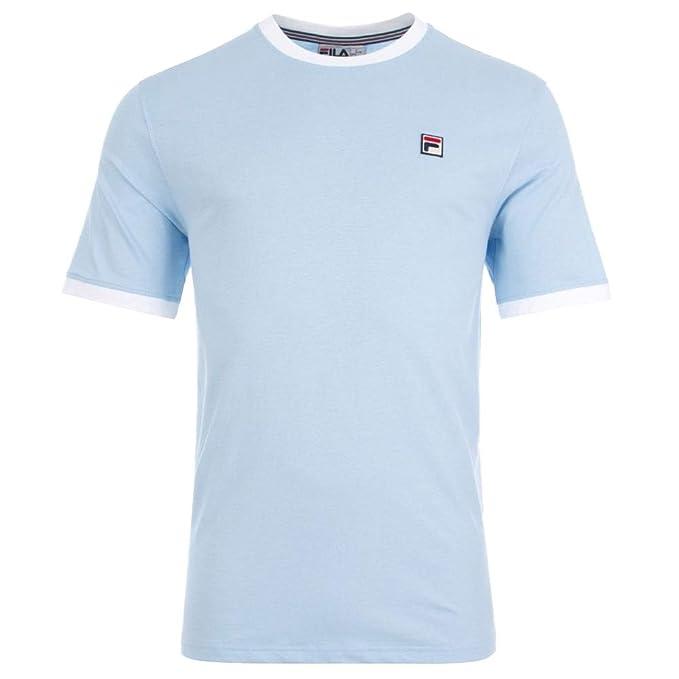 Fila Vintage Ringer T Shirt Sky BlueWhite 3XL: