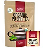 #8: Organic Puerh Tea - Premium Quality Fermented Pu erh Tea - Energizing, Detoxifying & Delicious - Aged Black Yunnan Tea - 20 Teabags (2 grams per serving)