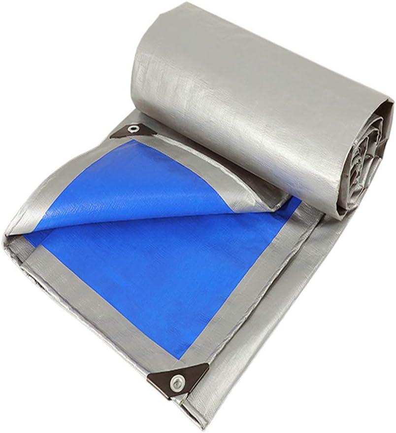 ZZZR Lona Impermeable Exterior, impermeabilizante,Resistente a los Golpes de toldo de Tela del Camión 10m*12m Tamaños Verde,Lona de Lona Pura Gruesa,Impermeable Tela de Protección Solar
