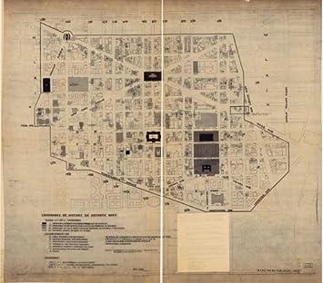 1966 Map Landmarks of historic or aesthetic merit : Washington D.C. Dc Landmarks Map on