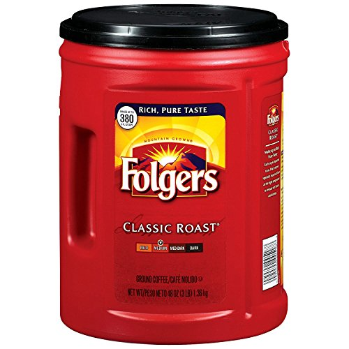 Folgers Classic Roast Ground Coffee   48 Oz  Pack Of 2  By Folgers  96 Oz