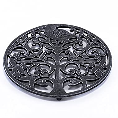 Old Dutch Antique Pewter Tree of Life Trivet