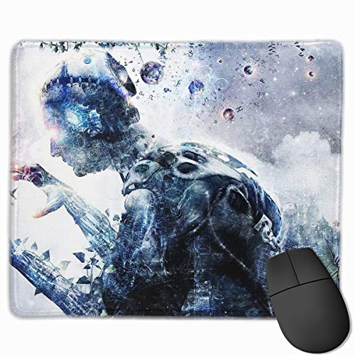 Computer Gaming Mouse Pad Fantasy Human Design Laptop Pad Non-Slip Rubber Stitched Edges 11.8 X 9.8 Inch ()