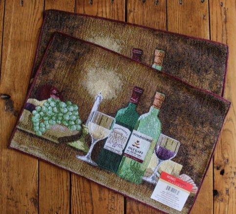 The Pecan Man Set of 2 Kitchen TableTuscany - Asian Theme Paper Placemats