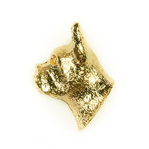 BOSTON TERRIER Made in U.K Artistic Style Dog Clutch Lapel Pin Collection 22ct Gold Plated