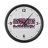 Large Wall Clock USA Jesus Saves Nation Under God