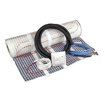 Electric Underfloor Heating Kit 2.5sqm - Philex Full Under Flooring Heating Kit Including Mat, Thermostat and Floor Temp Sensor IP66 150w per m² Thermostat and Floor Temp Sensor IP66 150w per m² 45002R