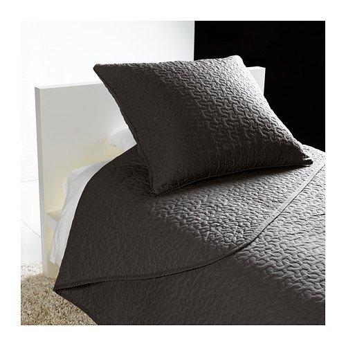 IKEA ALINA - Colcha y funda de cojín, gris oscuro - 180x280 ...