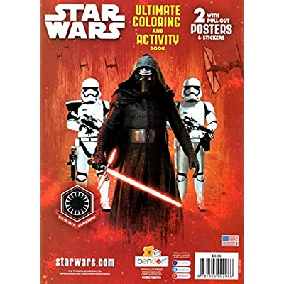 Disney Set of 2 Star Wars Ultimate Coloring and Activity Books 64 Pages: Toys & Games