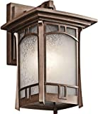 Kichler 49450AGZ Soria Outdoor Wall 1-Light, Aged Bronze