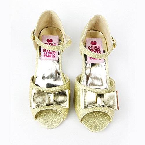 Jasmine Sparkle Child Shoes - Girls Jasmine Soft Sparkle Sling Backs Shoes (EUR36/US4.5)