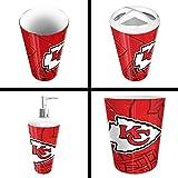The Northwest Company Kansas City Chiefs NFL 4 Piece Bathroom Decorative Set (Scatter Series)