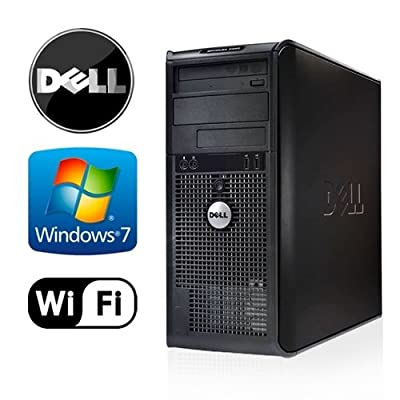 Dell Optiplex 380 Tower Wifi Desktop Pc Bundle - Intel Core 2 Duo @ 3.0ghz - 500gb HDD - Loaded 4gb RAM - Windows 7 Professional 32-bit - Dvd-rw