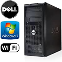 Dell Optiplex 360 Tower - Intel Core 2 Duo 2.5GHz - 4GB RAM - NEW 1TB HDD - Windows 7 Pro 64-Bit - WiFi - DVD/CD-RW (Prepared by ReCircuit)