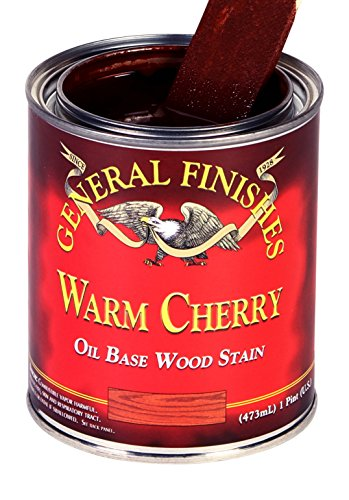 Warm Cherry Wood - General Finishes CHQT Oil Based Penetrating Wood Stain, 1 Quart, Warm Cherry