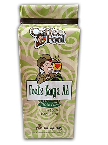 The Coffee Fool Very Fine Grind, Fool's Kenya AA, 12 Ounce