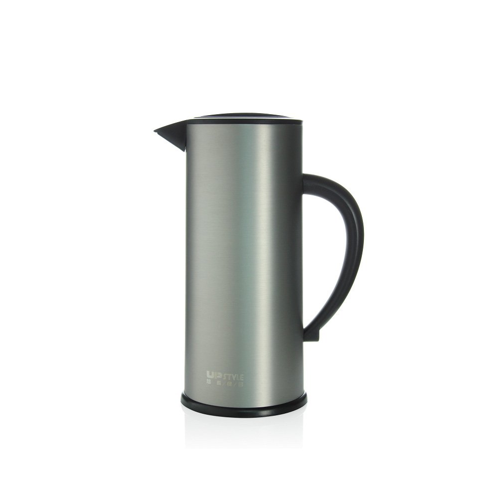 UPSTYLE Thermal Carafe 57oz Big Large Capacity Coffee Carafe Double-Wall Vacuum Insulated Stainless Steel Thermos Coffee Pot Jug Flask Tea Pot Water Pitcher Thermos Carafe (Matte Gray)