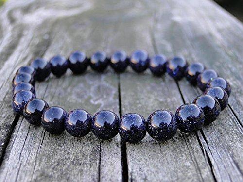 - JP_Beads Starry Night Bracelet | Gemstone Bracelet | Beaded Bracelet | Blue Goldstone Bracelet | Stacking Bracelet | Gift for Her | Gift for Him 8mm 7