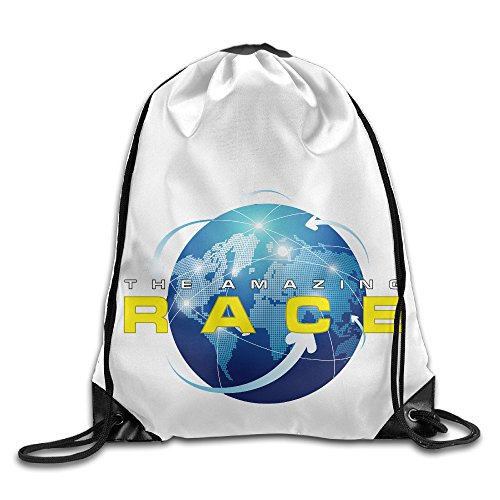 Price comparison product image CEDAEI The Amazing Race American Game Shows Entertainment Drawstring Bags Rowing White Backpack Sport Bag For Men & Women School Travel Backpack For Teens College