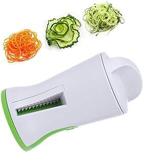 1 Pc Spiral Funnel Vegetable Grater ABS+Stainless Steel Carrot Cucumber Slicer Chopper Vegetable Spiral Blade Cutter