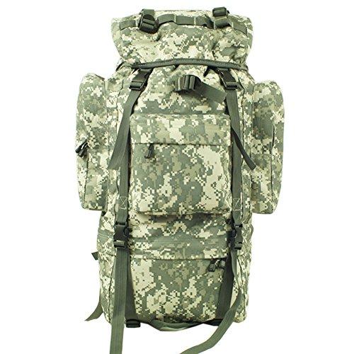 aofit 100L gran capacidad mochila Militar ejército combate táctico mochila senderismo mochila deportes al aire libre mochila multifunción mochila con bolsa de marco de aluminio en forma de U viaje Cam ACU camouflage