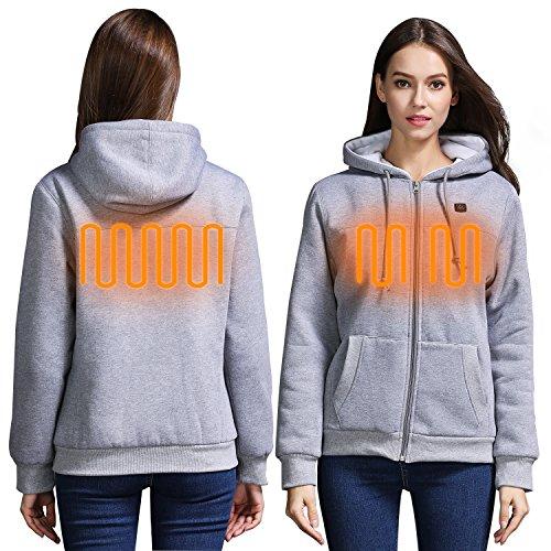 Jempet Women S Winter Zip Up Super Heated Hoodies Jacket