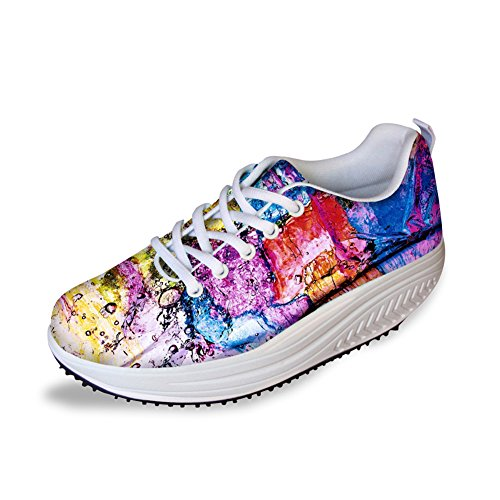 Knuffels Idee Multicolor Womens Mesh Walking Sneakers Kleurrijk 3