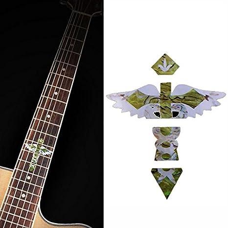 musicone imitación incrustaciones de madreperla diapasón marcadores adhesivos para eléctrico acústica guitarra Trastes: Amazon.es: Instrumentos musicales
