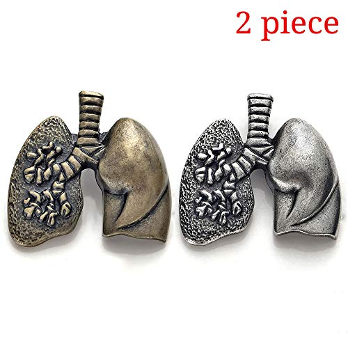 Brooch Pins 2 Pieces Set Medical Jewelry Lapel Pin Antique Gold Silver Gift Brooch Nurse Doctor Graduation Medical Student ()