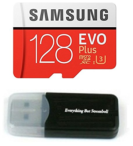 Samsung Galaxy S9 Memory Card 128GB Micro SDXC EVO Plus Class 10 UHS-1 S9 Plus, S9+, Cell Phone Smartphone with Everything But Stromboli (TM) Card Reader (MB-MC128) from Samsung