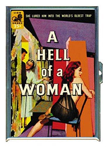 A Hell of a Woman RedheadパルプステンレススチールIDまたはCigarettesケース( Kingサイズまたは100 mm )   B00USPWTWO