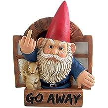 "Grumpy Gnome ""Go Away"" Wall Plaque 8.75 Inch"
