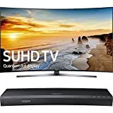 "Samsung 65"" Class KS9800 9-Series Curved 4K SUHD TV (UN65KS9800FXZA) with Samsung 3D Wi-Fi 4K Ultra HD Blu-ray Disc Player"