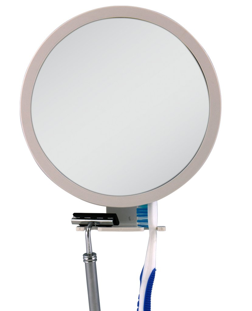 Zadro 6.5-Inch 5x Mag Z Fogless Ultra Shower Mirror with Dual Accessory Holder Z500
