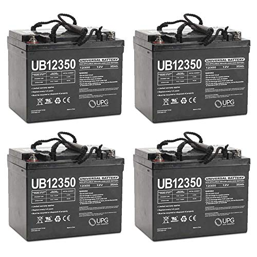 Dart Runabout - Universal Power Group UB12350 12V 35AH Internal Thread Battery for INVACARE,DART RUNABOUT - 4 Pack