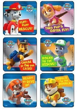 paw patrol characters foil sticker set 90 stickers marshall zuma