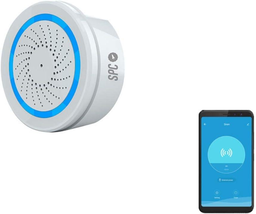SPC Sonus - Alarma con sirena inteligente Wi-Fi, compatible con Amazon Alexa – Color Blanco: Amazon.es: Electrónica