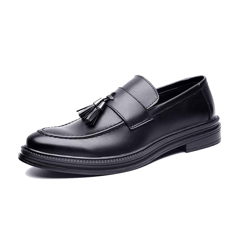 Best-choise Men's Business Oxford Casual British Style Flexible Tassel Pointed Toe Slip on Shoes Eye-catching